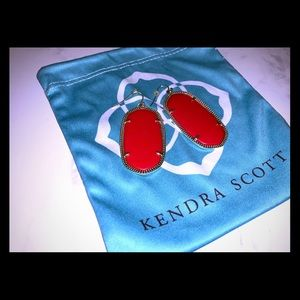 "Kendra Scott ""Danielle"" red statement earrings"